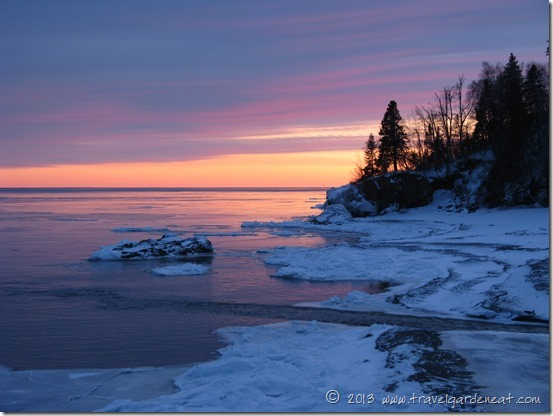 Sunset on Lake Superior near Lutsen Resort, Minnesota