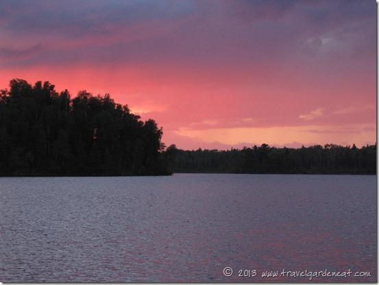 A summer sunset in Northern Minnesota