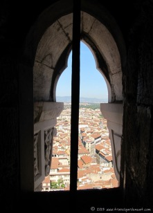 Florence from inside the Bell Tower