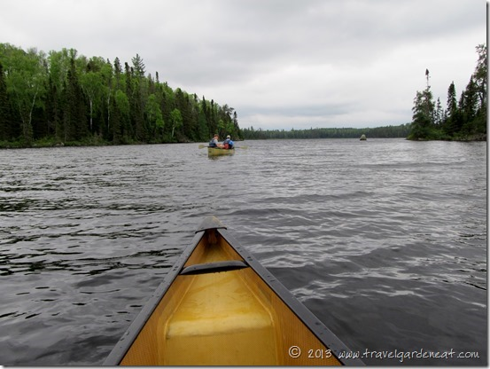Heading toward open water in the BWCA