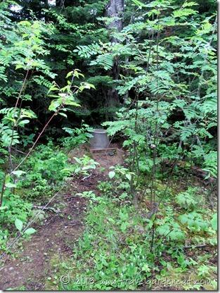 Our island campsite latrine.