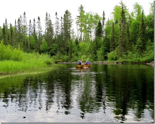Paddling down the Cross River, Minnesota