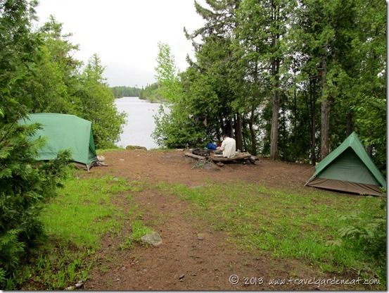 Long Island Lake island campsite in the BWCA