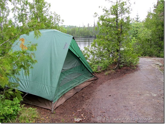 Campsite on Ham Lake, off the Gunflint Trail, Minnesota