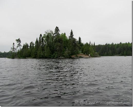Long Island Lake island campsite, BWCA