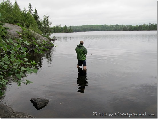 Fishing on Ham Lake, off the Gunflint Trail, Minnesota