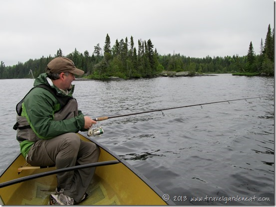 Fishing on Long Island Lake, BWCA