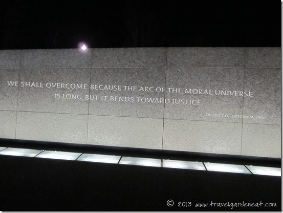 The arc of the moral universe bends toward justice.