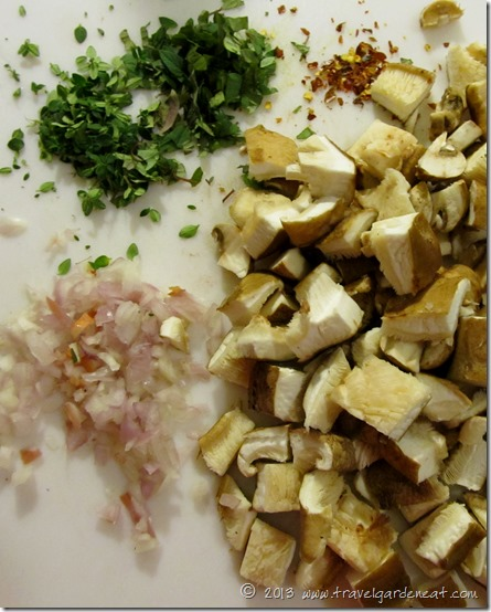 Chopped frittata ingredients