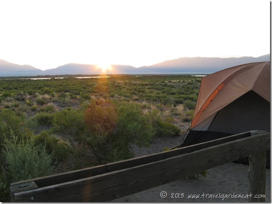 Sunrise at San Luis State Park campground, Colorado