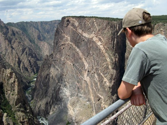 Painted Wall at the Black Canyon of the Gunnison National Park