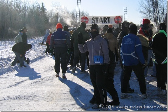 Starting line of the 2008 Freeze Yer Gizzard run