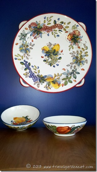 Rampini Ceramics platter and pasta bowls