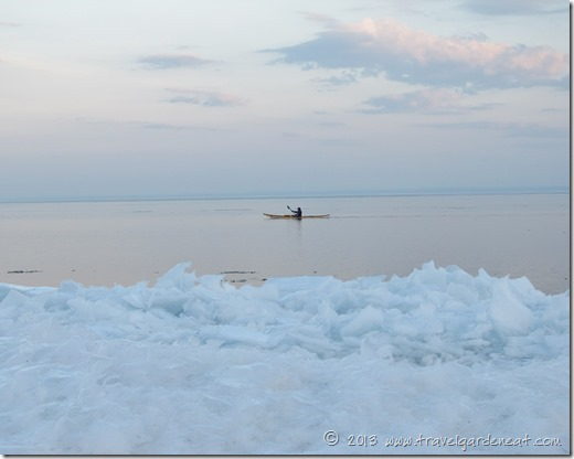 Winter Kayak on Lake Superior