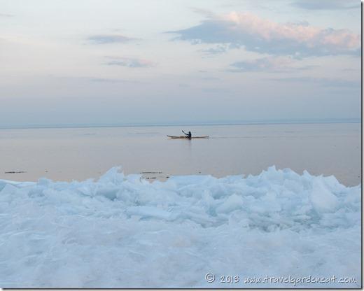 Winter Kayak on Lake Superior