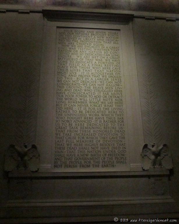 Gettysburg Address in the Lincoln Memorial