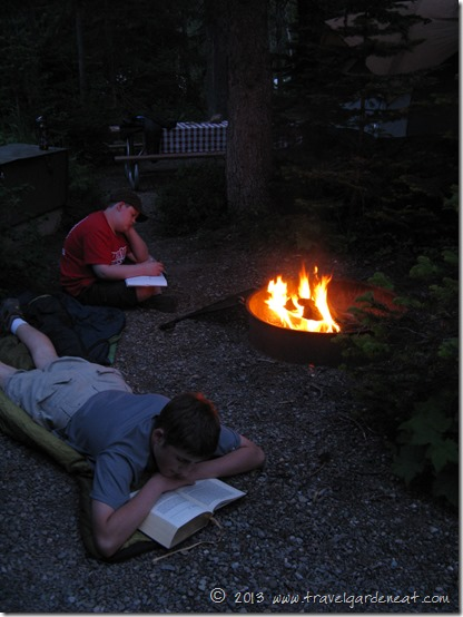 Reading by firelight