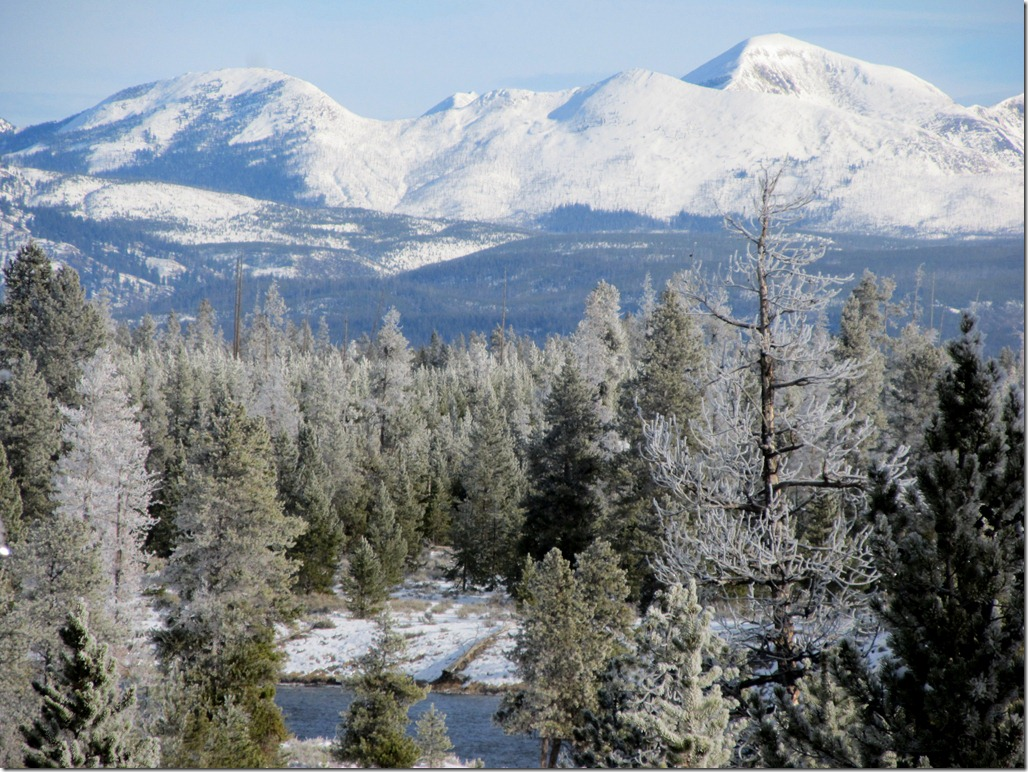 View from the nordic ski trail in Yellowstone National Park
