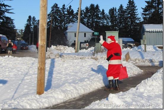 Santa departing Julebyen on December 7