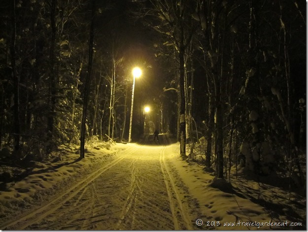 Night skiing in Duluth, Minnesota