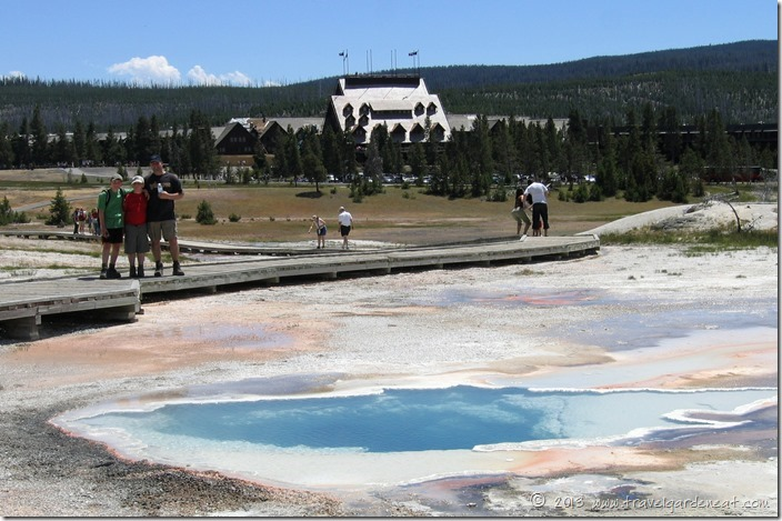 Old Faithful Inn and the Upper Geyser Basin