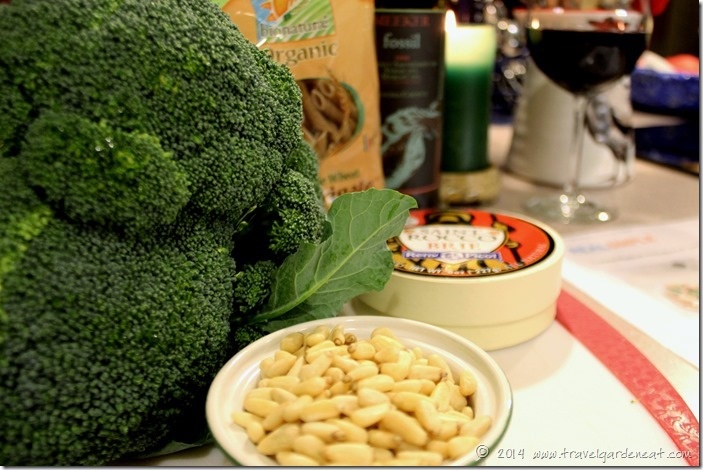 Rigatoni with broccoli and brie ingredients