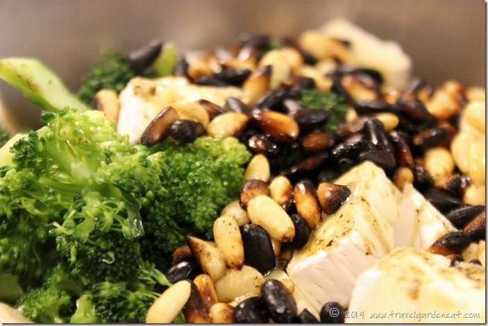 Pasta with burnt pine nuts ..... aka Creamy Rigatoni with Broccoli