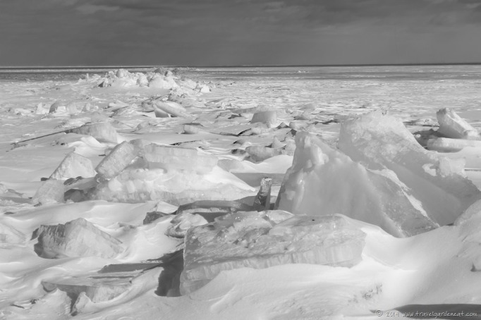 Frozen Lake Superior as March approaches