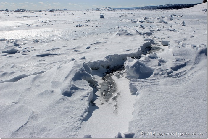 Ice Fissures on Lake Superior ~ Duluth, MN