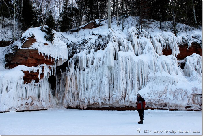 Ice-covered shore at Apostle Islands ice caves