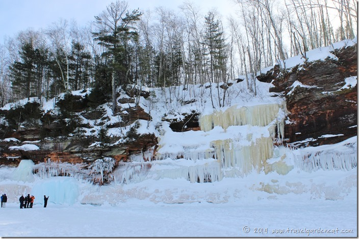 Curtains of ice at Apostle Islands National Lakeshore