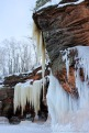 Ice caves shoreline