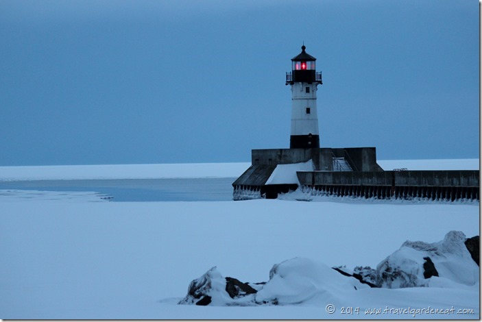 Lake Superior Lighthouse in Canal Park, Duluth