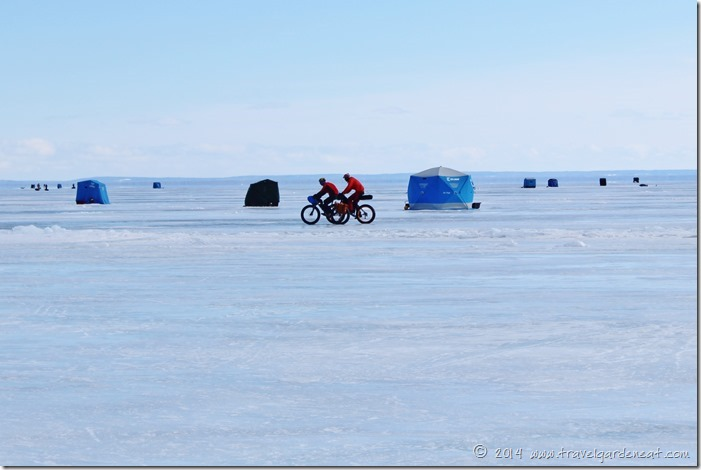 Ice biking in Duluth, Minnesota