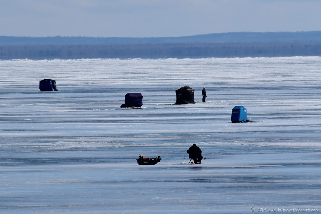 The ides of march on lake superior travel garden eat for Ice fishing minnesota