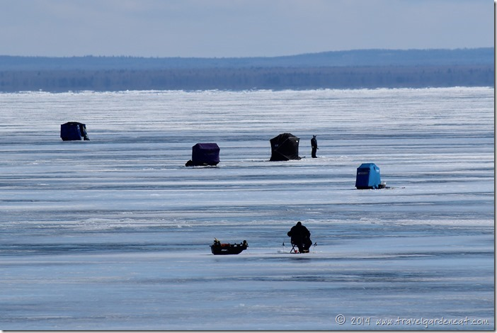 Ice fishing in March ~ Duluth, Minnesota