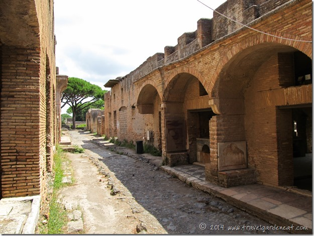 Street scene at Ostia Antica