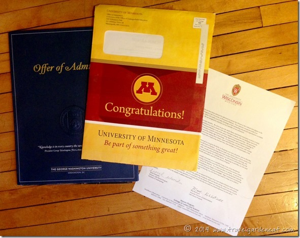 College Admission Letters