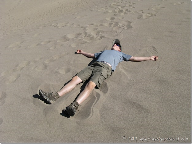 Sand Angels in the Sand Dunes of Colorado