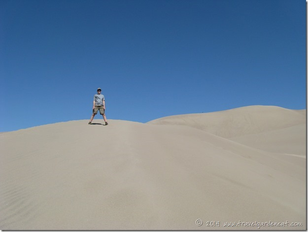 Great Sand Dunes National Park -- standing on top of a dune