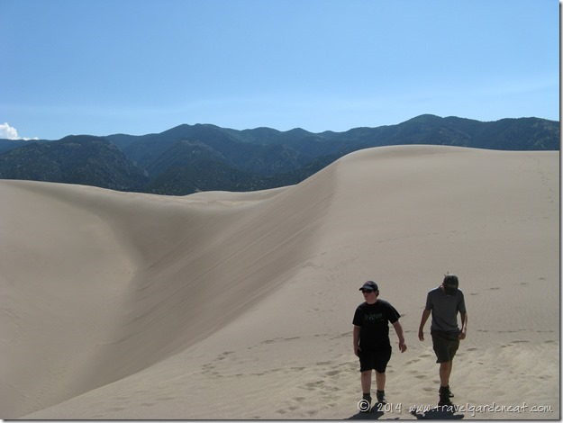Hiking the dunes at the base of the Sangre de Cristo mountains