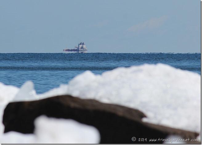 Lake Superior's Ship Traffic in Spring