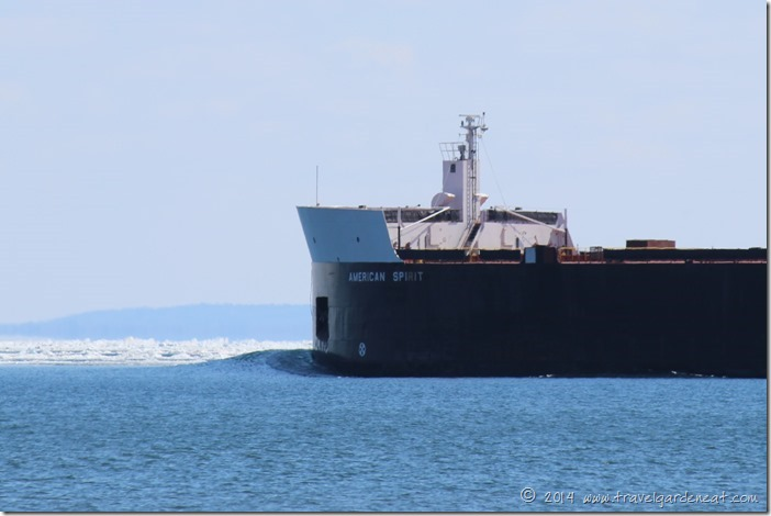 The American Spirit pushes out on Lake Superior