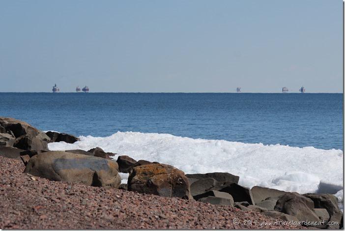 Spring Shipping Convoy on Lake Superior