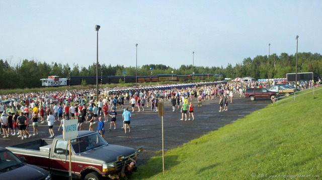 Starting line of Duluth's Grandma's Marathon