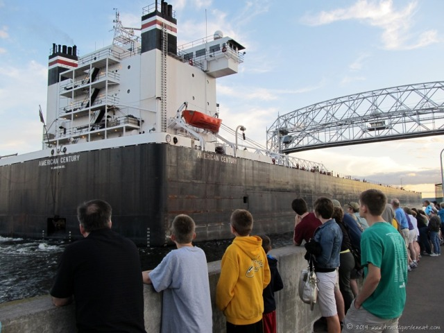 Ship Going Through Duluth's Canal