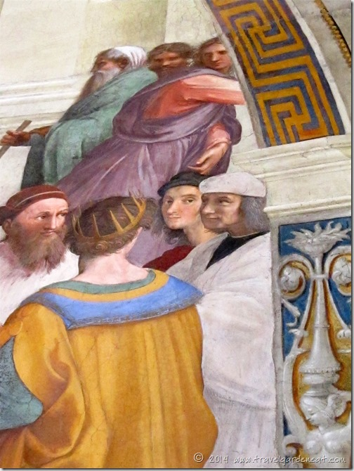 Raphael's self-portrait in the School of Athens fresco in the Vatican Museums