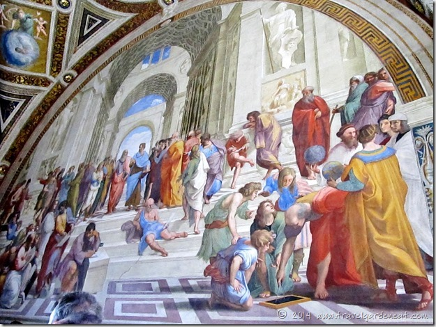 Raphael's Room of the Segnatura, School of Athens fresco in the Vatican Museums