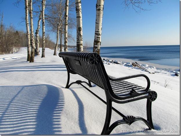 Winter scene on Brighton Beach ~ Duluth, MN