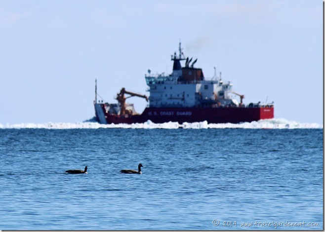 U.S. Coast Guard ice cutter on Lake Superior in Duluth, MN